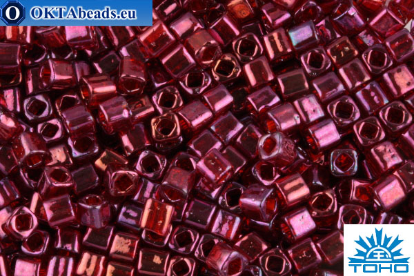 TOHO Beads Cube Gold-Lustered Raspberry (332) 4mm TC-04-332