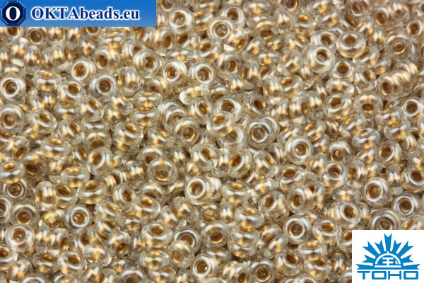 TOHO Beads Demi Round Gold-Lined Crystal (989) 11/0 TN-11-989