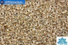 TOHO Beads Demi Round Gold-Lined Crystal (989) 11/0