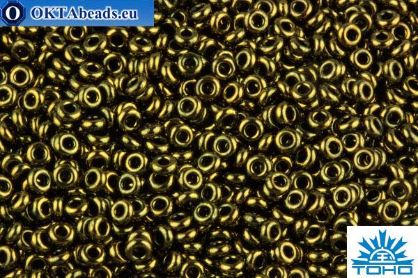 TOHO Beads Demi Round Gold-Lustered Dark Antique Bronze (422) 11/0 TN-11-422