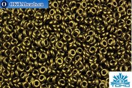 TOHO Beads Demi Round Gold-Lustered Dark Antique Bronze (422) 8/0