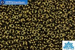 TOHO Beads Demi Round Gold-Lustered Dark Antique Bronze (422) 11/0