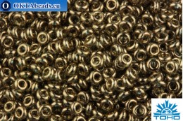 TOHO Beads Demi Round Gold-Lustered Montana Blue OS (204) 11/0 TN-11-204