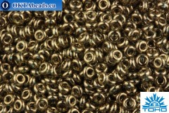 TOHO Beads Demi Round Gold-Lustered Montana Blue OS (204) 11/0 TN-11-204