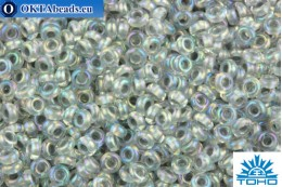 TOHO Beads Demi Round Inside-Color Rainbow Crystal/Gray-Lined (261) 11/0 TN-11-261