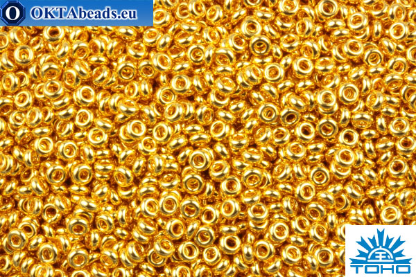 TOHO Beads Demi Round Metallic 24K Gold Plated (712) 11/0 TN-11-712