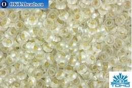 TOHO Beads Demi Round PermaFinish Silver-Lined Frosted Crystal (PF21F) 11/0
