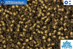 TOHO Beads Frosted Gold-Lined Black Diamond (999F) 15/0