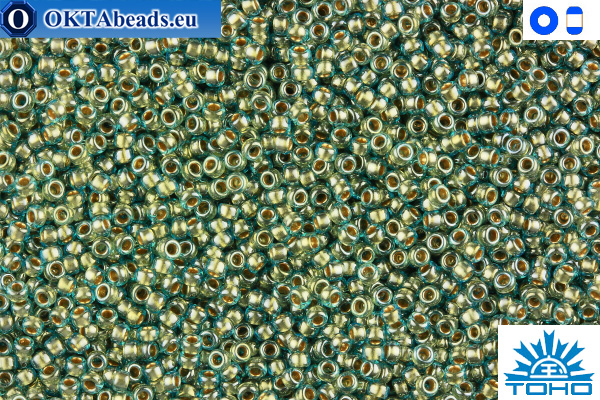 TOHO Beads Gold-Lined Aqua (990) 11/0