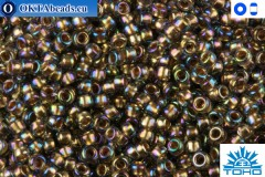 TOHO Beads Gold-Lined Rainbow Black Diamond (999) 15/0