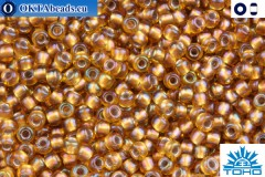 TOHO Beads Gold-Lined Rainbow Topaz (278) 11/0