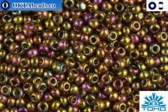 TOHO Beads Gold-Lustered Dark Topaz (459) 11/0