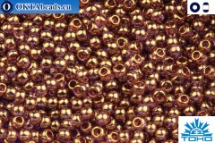 TOHO Beads Gold-Lustered Lt Amethyst (203) 11/0