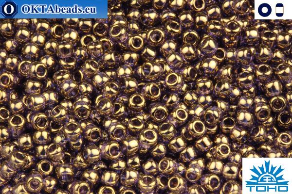 TOHO Beads Gold-Lustered Lt Tanzanite (325) 11/0