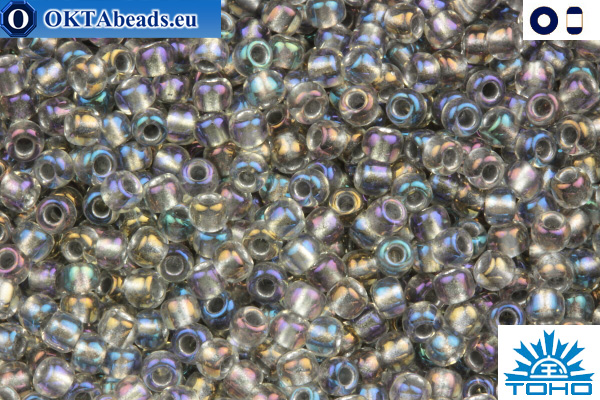 TOHO Beads Inside-Color Gold Luster Crystal/Opaque Gray (266) 11/0 TR-11-266