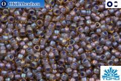 TOHO Beads Inside-Color Lt Topaz/Opaque Lavender Lined (926) 15/0