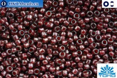 TOHO Beads Inside-Color Montana Blue/Oxblood Lined (363) 15/0