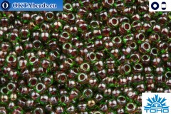 TOHO Beads Inside-Color Peridot/Fuschia Lined (250) 11/0