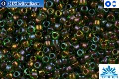 Toho Beads Inside-Color Peridot/Oxblood-Lined (247) 15/0