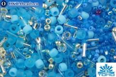 TOHO Beads Mix Aozora- Blue/Silver Mix (3223)