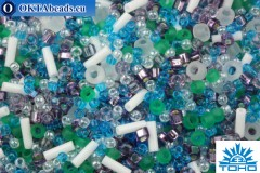 TOHO Beads Mix Fuji- White/Green/Blue/Purple Mix (3229)