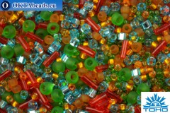 TOHO Beads Mix Haiku- Orange/Green/Blue Mix (3228)