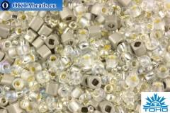 TOHO Beads Mix Junpaku - Crystal/Silver(3201) TX-01-3201