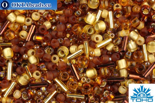 TOHO Beads Mix Kohaku - Amber(3219) TX-01-3219