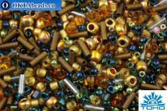 TOHO Beads Mix Raiden- Gold/Green/Blue Mix (3220)