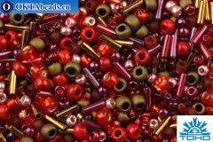TOHO Beads Mix Samurai- Red/Brown Mix (3218)