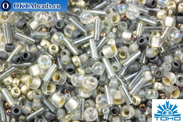 TOHO Beads Mix Tenin- Gray/Gold Mix (3211) TX-01-3211