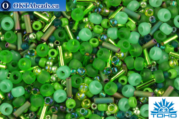 TOHO Beads Mix Wasabi - Green(3221) TX-01-3221