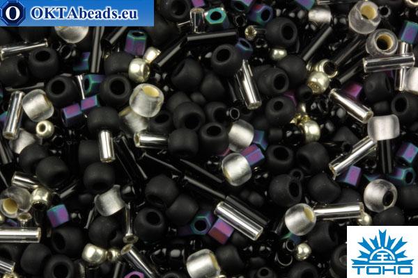 TOHO Beads Mix Yozora- Jet/Silver Mix (3225) TX-01-3225