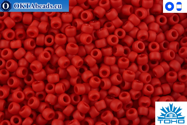 TOHO Beads Opaque-Frosted Cherry (45AF) 11/0 TR-11-45AF