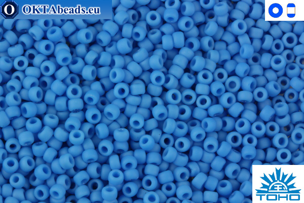 TOHO Beads Opaque-Frosted Cornflower (43DF) 11/0