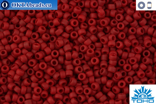TOHO Beads Opaque-Frosted Pepper Red (45F) 11/0 TR-11-45F