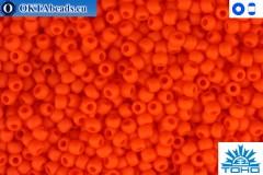 TOHO Beads Opaque-Frosted Sunset Orange (50F) 11/0
