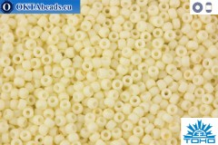TOHO Beads Opaque-Pastel-Frosted Egg Shell (762) 15/0