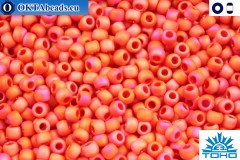 TOHO Beads Opaque-Rainbow Frosted Cherry (405F) 11/0