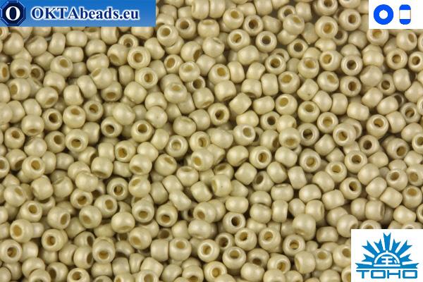 TOHO Beads Permanent Finish - Matte Galvanized Aluminum (PF558F) 15/0