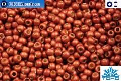 TOHO Beads Permanent Finish - Matte Galvanized Brick Red (PF564F) 11/0