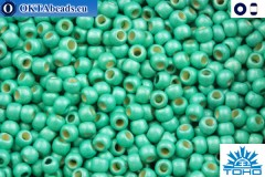 TOHO Beads Permanent Finish - Matte Galvanized Green Teal (PF561F) 11/0