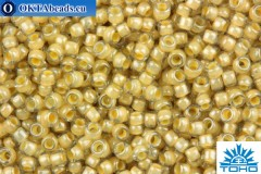 TOHO Beads Round Beige Lined Crystal (369) 15/0