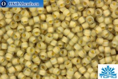 TOHO Beads Round Beige Lined Crystal Matte (369F) 15/0