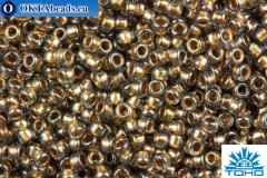 TOHO Beads Round Bronze Lined Black Diamond (993) 15/0