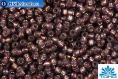 TOHO Beads Round Cocoa Opal Silver Lined (2114) 15/0