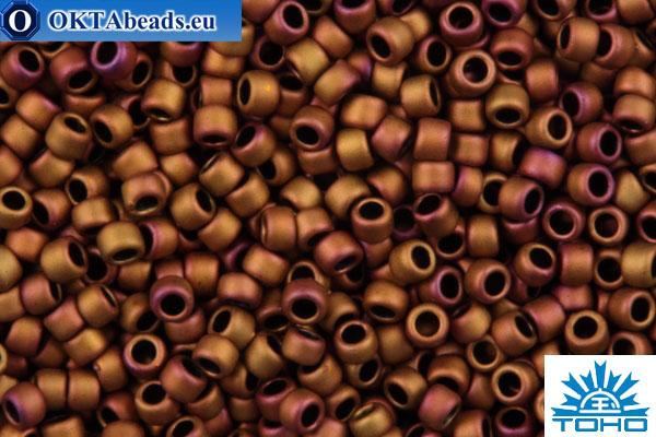 TOHO Beads Round Copper Rose Metallic Matte (618) 15/0 TR-15-618
