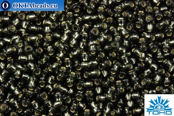 TOHO Beads Round Dark Black Diamond Silver Lined (29C) 11/0