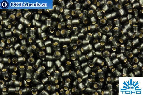 TOHO Beads Round Dark Black Diamond Silver Lined Matte (29CF) 11/0 TR-11-29CF
