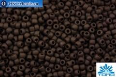 TOHO Beads Round Dark Chocolate Brown Matte Opaque (46DF) 11/0